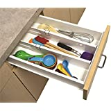 Snap Fit Drawer Dividers Kitchen Organizer Universal Silverware Tools Junk Pen (1-Pack of 2)
