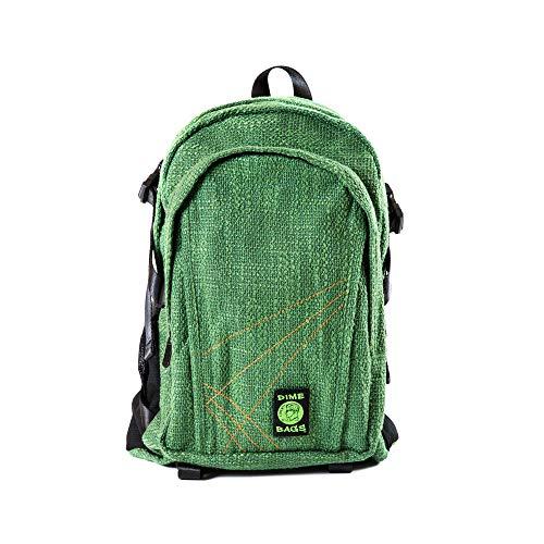 - Original Hemp Backpack - Knapsack w/Smell Proof Pouch & Secret Pocket (Forest)