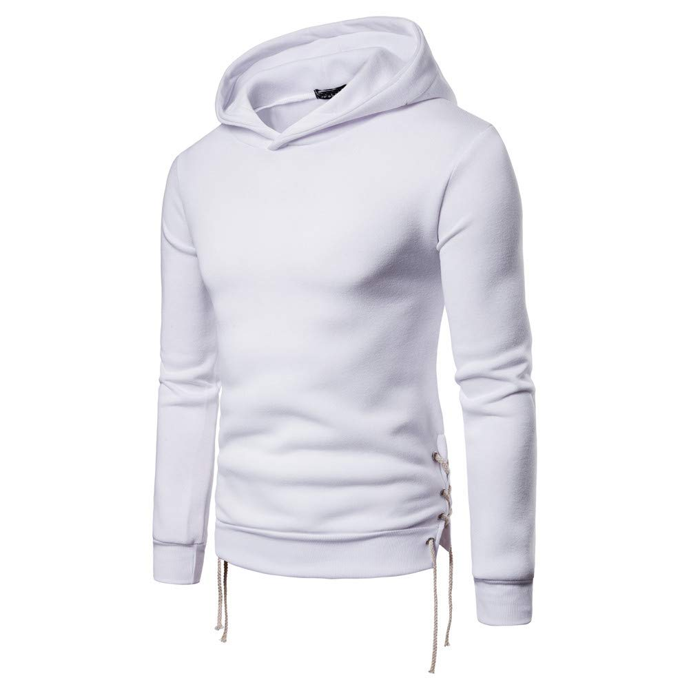 Yvelands Liquidación Hombres Otoño Invierno Sólido Manga Larga Vendaje Sudadera Pullover Outwear Tops.: Amazon.es: Ropa y accesorios