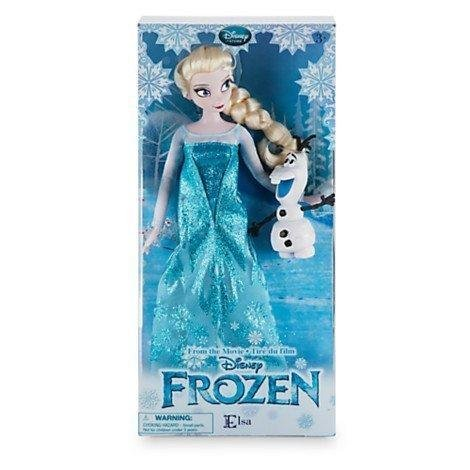 New In Box Disney Store Frozen 12'' Inches Elsa Classic Doll With Olaf 2016 In New Packaging