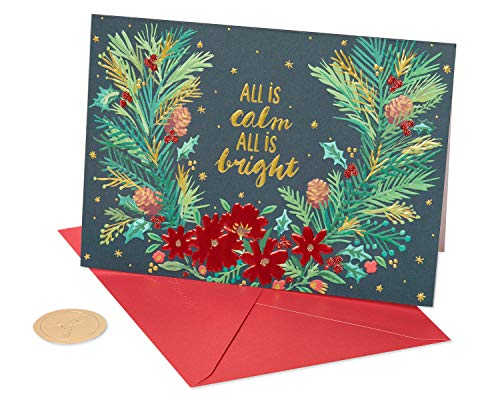 Papyrus Holiday Cards Boxed, All Is Calm (12-Count) (Festive Christmas Cards)