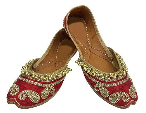 Step n Style , Damen Sandalen rot rot