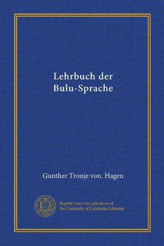 Lehrbuch der Bulu-Sprache (German Edition)