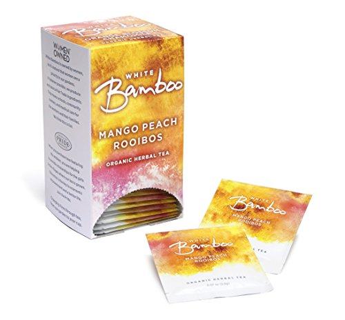White Lion White Bamboo Organic Herbal Tea, Mango Peach, 0.27 Pound