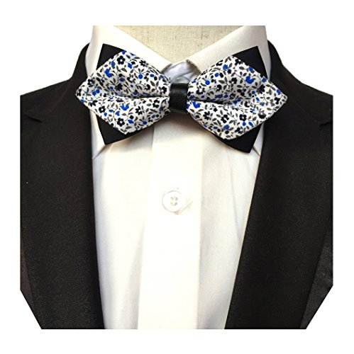 Bowtie Men s Bow Dress Flower Blue Floral Ties Tie MENDENG Tuxedo YqwdpAY