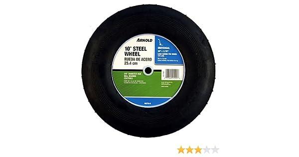 Amazon.com : Arnold 10-Inch Ribbed Tread Steel Wheel : Lawn Mower Wheels : Garden & Outdoor