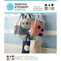 Martha Stewart Crafts Large Paper Stencil (9 by 7.5-Inch), 32986 Pattern & Shape (41 Sheets with 52 Designs)