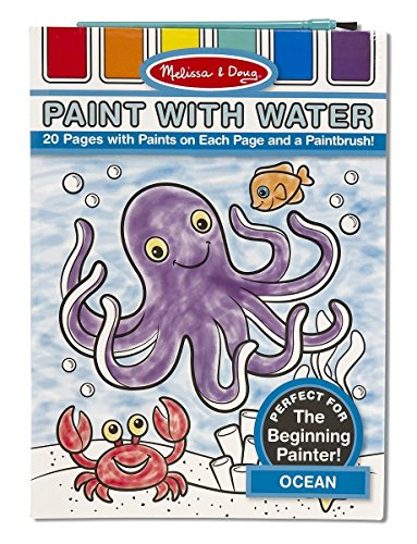 Melissa & Doug Paint With Water Activity Book - Ocean (20 Pages)