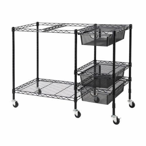Vertiflex Mobile File Cart with 3 Drawers 38 x 15.5 x 28 Inches Black (VF50621) [並行輸入品]   B077JQDYC6