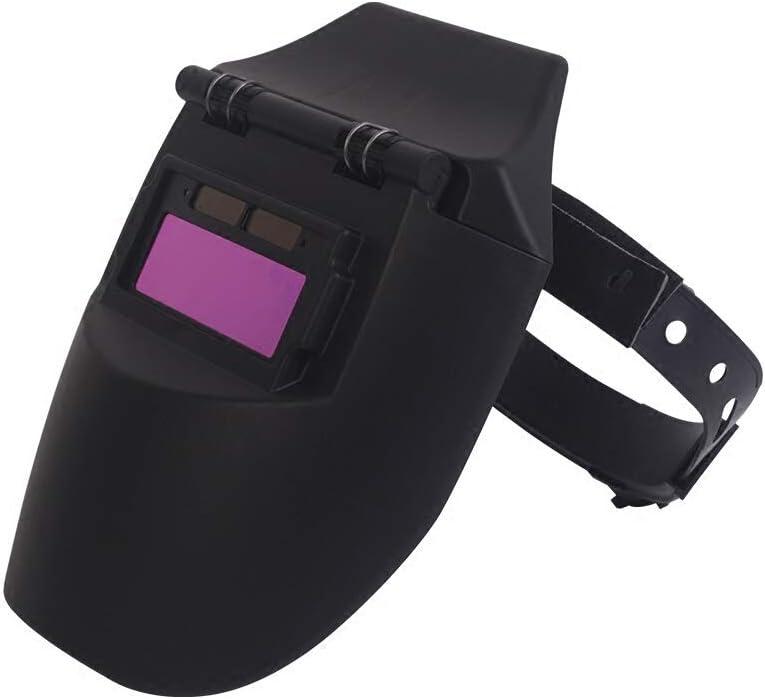 HBGGGGG Máscara de atenuación automática Máscara de Soldadura fotoeléctrica Variable Solar Soldadura por Arco de argón Protección de Gas Tapa de Soldadura Casco Protector