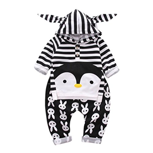 Penguin Flare Skirt (Baby Pant Sets, LOVELYIVA Kids Baby Boys Penguin Rabbit Print Tops+ Pants Outfit Clothes Set (6-12M, Black))