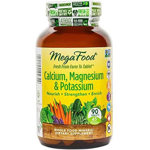 MegaFood – Calcium, Magnesium & Potassium, Supports Healthy Bones & Muscles, 90 Tablets (FFP)