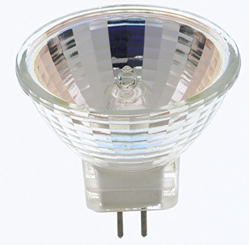 Satco 12Pack S3154 20 Watt MR11 Halogen GZ4 Base 12 Volt Clear FL 30 Beam Pattern Light Bulb, No Lens (12 Pack) (12v Mr11 Gz4 Base Lamp)