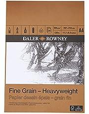 Daler-Rowney papierblok, fijne korrel, zwaar, DIN A4, 200 g, 30 vellen