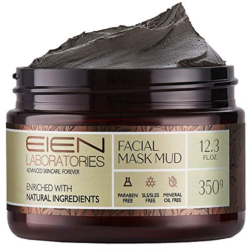 EIEN Laboratories Natural Dead Sea Mud Mask – Exfoliating, Pore Minimizer Face Mask for Radiant, Moisturized Skin – Restorative, Skin Care Infused with Aloe Vera, Vitamins, Minerals, 12.34 oz