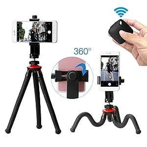 Ulanzi Phone Flexible Tripod With Bluetooth Shutter Remote Portrait Landscape Mount Adapter Livestream Video For Iphone X 8 7 Samsung Xiaomi Huawei DSLR Camera Gopro
