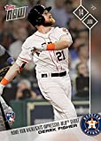 2017 Topps Now Baseball #253 Derek Fisher Houston Astros Rookie Card - Hits Home Run in MLB Debut - Only 599 made!