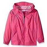 Toomett Girls Kid Waterproof Lightwight Jacket Outwear Raincoat with Hooded,#92055, Rose Fushia,US XL