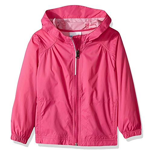 Girl's Switchback Light Rain Coat Hoodie Jacket Fairytale Pink Ice Size -