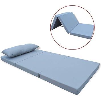 Tuduo colchón Plegable para Niños Gris Elegante, cómodo y Simple colchones Cuna Camas y Accesorios