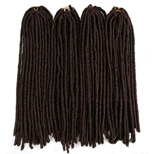 18inch Soft Dreadlocks Crochet Braids Jumbo Dread Hairstyle Ombre Color Synthetic Faux Locs Braiding Hair Extensions,#33,18inches,8Pcs/Lot ()