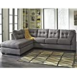 Cheap Flash Furniture Benchcraft Maier Sectional with Left Side Facing Chaise in Charcoal Microfiber
