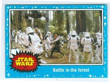 Han Solo Fights Stormtroopers trading card Journey to Star Wars Force Awakens 2015 Topps #75