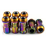 SaiDeng R40 Car Wheel Lug Nuts 20Pcs/Set 1.5/1.25 SPEC Colorful Iron Drive Lug Nuts Wheel Nuts + 2 Anti-theft Screw Closed End Bulge Acorn Lug Nuts