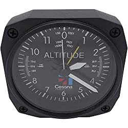 Trintec Aviation Classic Altimeter CESSNA Desk Top Travel Alarm Clock Aircraft