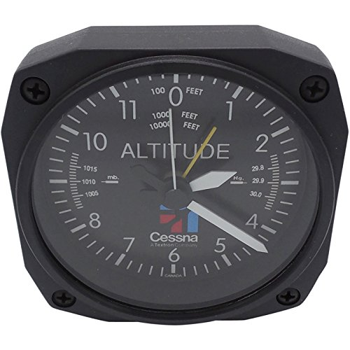 Altimeter Desk (Trintec Aviation Classic Altimeter CESSNA Desk Top Travel Alarm Clock Aircraft)