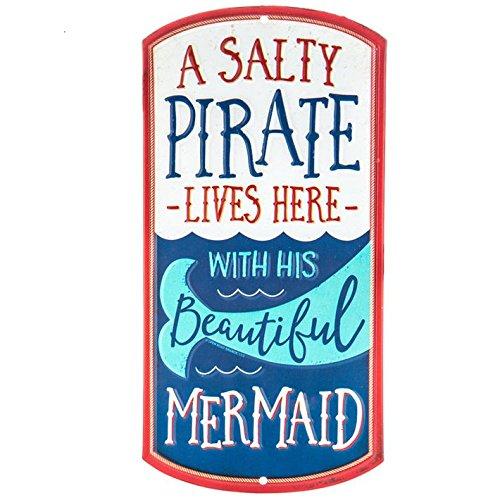(Pirate Mermaid Metal Sign