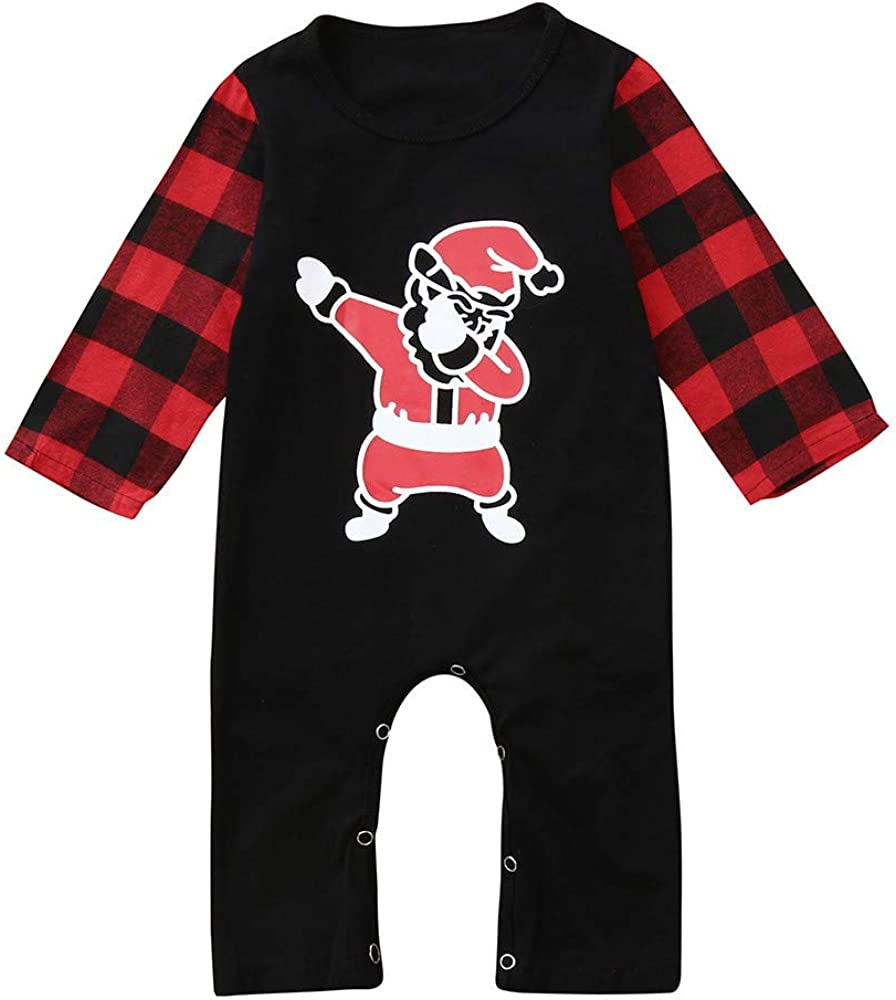 Kehen Baby Christmas Pajamas, Infant Newborn Baby Boy Girl Cotton Romper Bear Print Long Sleeve Bodysuit Jumpsuit