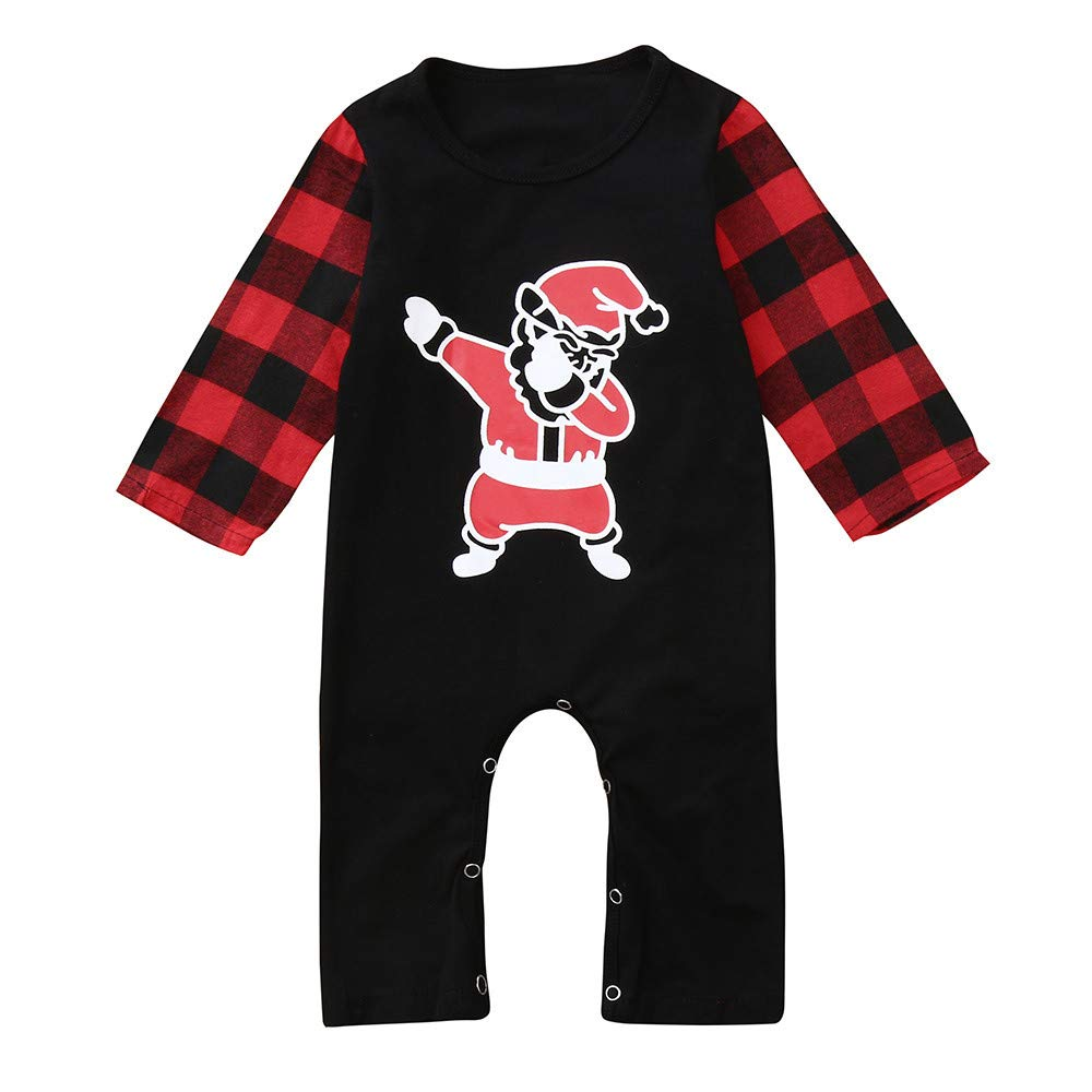 Jchen Unisex Newborn Halloween Christmas Pajamas Romper Jumpsuit Sleepwear Nightwear for 0-24 Months TM