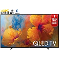 Samsung QN75Q9 75-Inch 4K Ultra HD Smart QLED TV (2017 Model) + 1 Year Extended Warranty (Certified Refurbished)