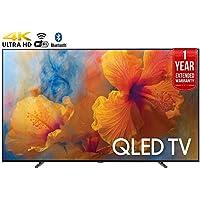 Samsung QN75Q9 75-Inch 4K Ultra HD Smart QLED TV (2017 Model) + 1 Year Extended Warranty (Certified Refurbished)