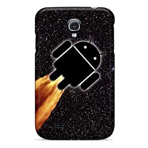 New Fashion Premium Tpu Case Cover For Galaxy S4 - Android Spaceship