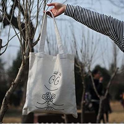 Environment-friendly Handmade Heavy chic baba Cotton canvas Eco Reusable Shoulder Bags Shopping Tote