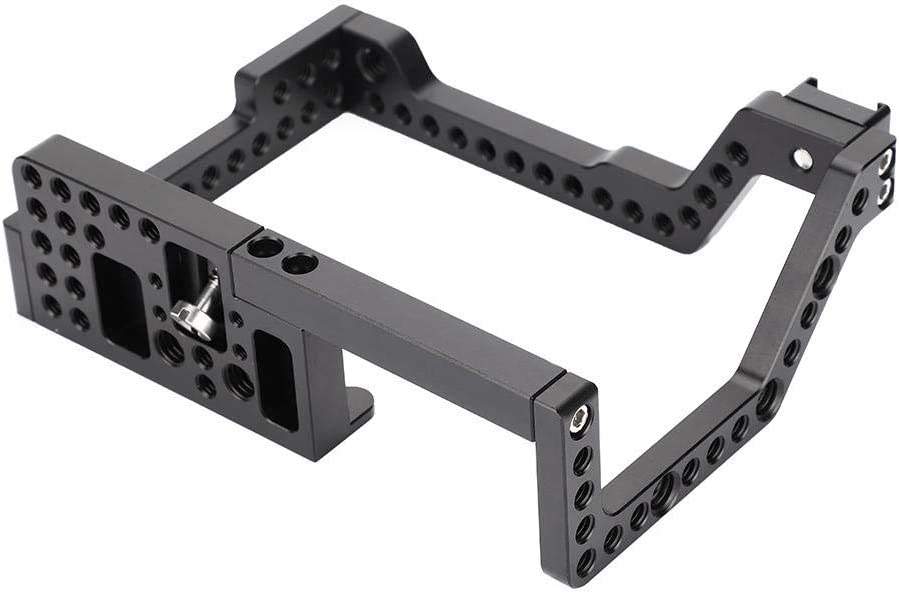 Diyeeni 1//4 Screw Multiple Holes Camera Cage Camera Stablilizer Cage for Photography Lovers,Aluminium Alloy Metal Camera Cage Rig for Panasonic GH4//5