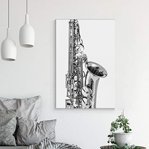 Musical Instruments Theme Saxophone in Black and White