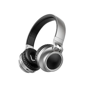 Auriculares inalámbricos Bluetooth Ordenador portátil Auriculares Subwoofer Auriculares de luz de Color Juego Música Deportes con Tarjeta de micrófono para ...