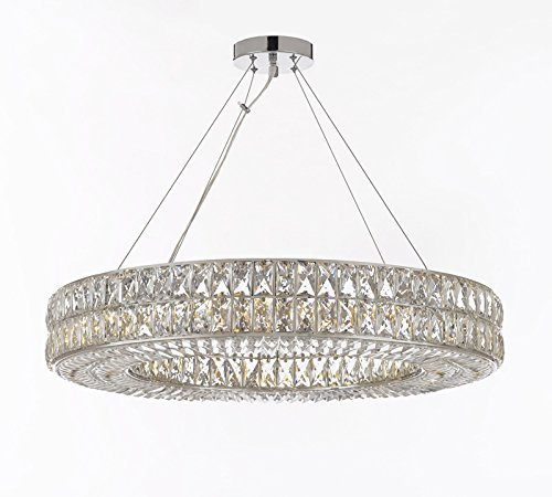 Crystal spiridon ring chandelier chandeliers modern contemporary crystal spiridon ring chandelier chandeliers modern contemporary lighting pendant 32 wide good for aloadofball Image collections
