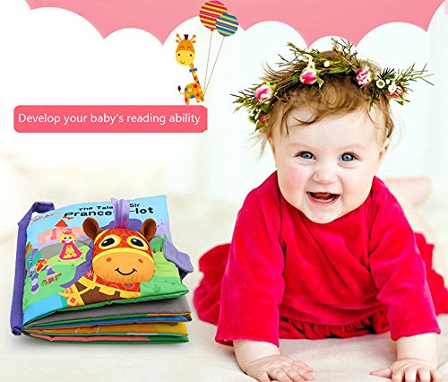 Hosim Baby's Soft Cloth Books Set - Baby Early Education Development Learning Toys, Fabric Cloth Colorful Activity Baby Book for Infant Toddlers (Pony colth Book)