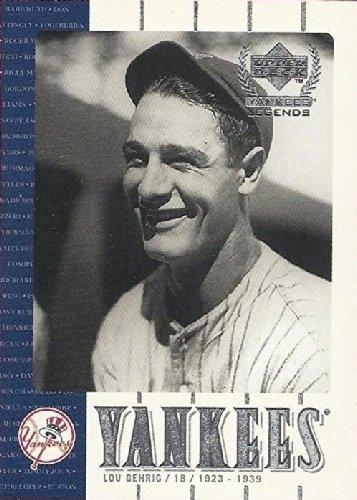 2000 Upper Deck Yankees Legends #3 Lou Gehrig Baseball Card - Near Mint to (2000 Upper Deck Legends Card)