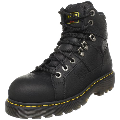 Dr. Martens Ironbridge Safety Toe Boot,Black,10 UK/12 M US Women's/11 M US Men's (Womens Steel Toe Boots With Metatarsal Guard)