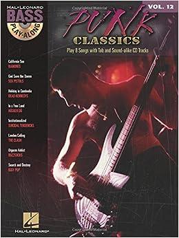Book Bass Play Along Volume 12 Punk Classics Bass Guitar Book/Cd (Hal Leonard Bass Play-Along)