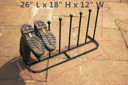 """Boot Rack ,Boot Organizer:""""Eagle iRoot"""" Creative Indoor/Outdoor Wrought Iron Boot Rack Stand , Elegant & Steady Boot Organizer - Perfect for Storing & Drying .Compact Size Allows for Unobtrusive and Portable Storage of Your Boots. No More Tripping Ove by Eastern Cloud (Image #5)"""