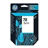 HP 78 (C6578DN / C6578DN#140) Tri-Color OEM Genuine Inkjet/Ink Cartridge (560 Yield) – Retail, Office Central