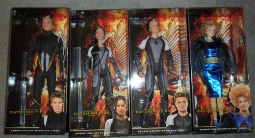 Barbie Collector the Hunger Games Catching Fire Fashion Dolls Bundle: Katniss, Peeta, Effie, Finnick by Mattel by Mattel