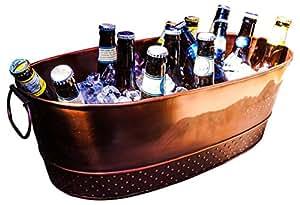 BREKX Colt Copper Finish Beverage Tub, Medium, Bronze