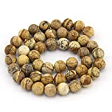 """2x Wholesale Lot Natural Round Gemstone Jewelry Making Loose Beads Strand 15"""" Color:Picture Jasper Size & Qty:4mm 96Pcs"""